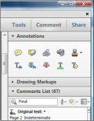 Annotate PDF with Adobe Reader X