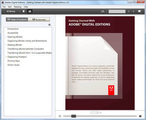 Adobe Digital Editions to read EPUB