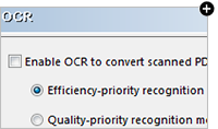 Convert PDF with OCR