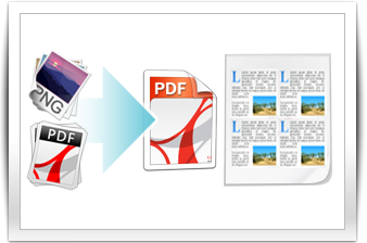 merge PDF and images, split big PDF
