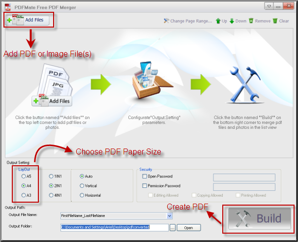 Change PDF Paper Size with PDFMate Free PDF Merger