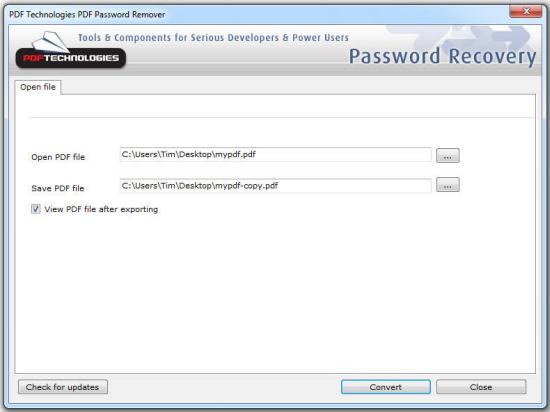 how to break up pdf file password
