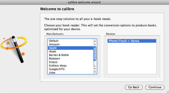Install Calibre for Preparation